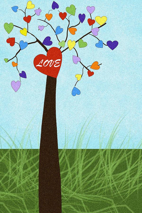 Love Tree Digital Art