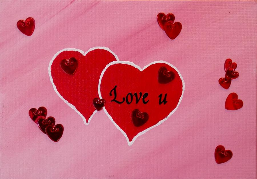 Love U  Painting  - Love U  Fine Art Print