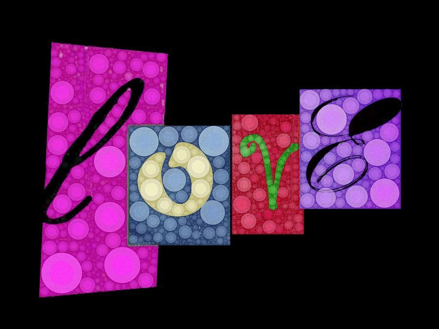 Love You Digital Art  - Love You Fine Art Print