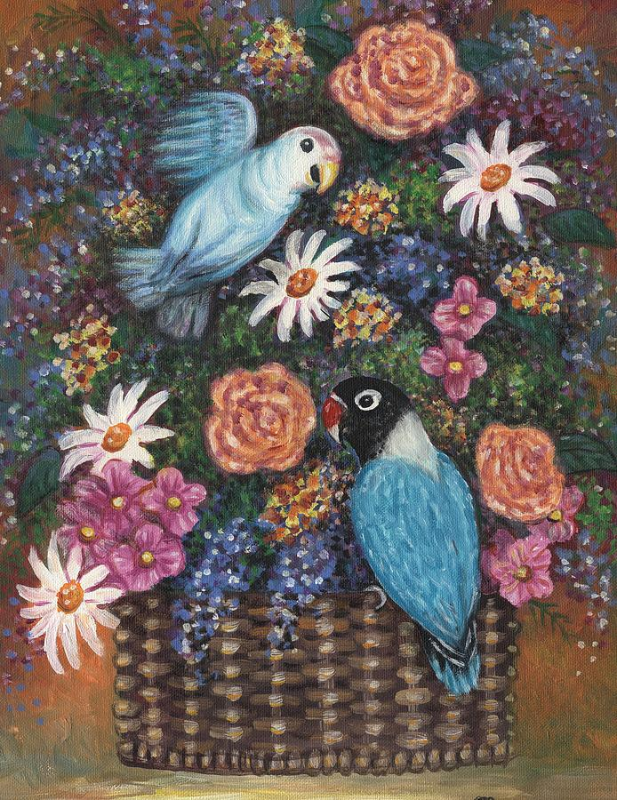 Lovebirds Two Painting  - Lovebirds Two Fine Art Print