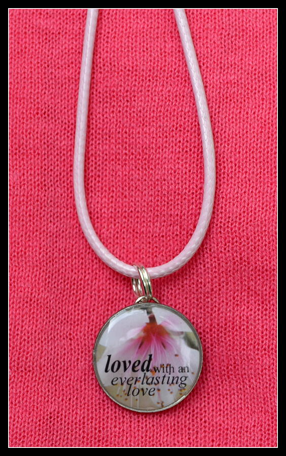 Loved With An Everlasting Love Pendant Jewelry  - Loved With An Everlasting Love Pendant Fine Art Print