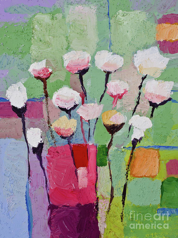 Lovely Flowers Painting  - Lovely Flowers Fine Art Print