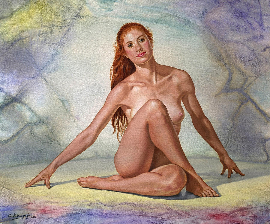 Figure Painting - Lovely Lady by Paul Krapf