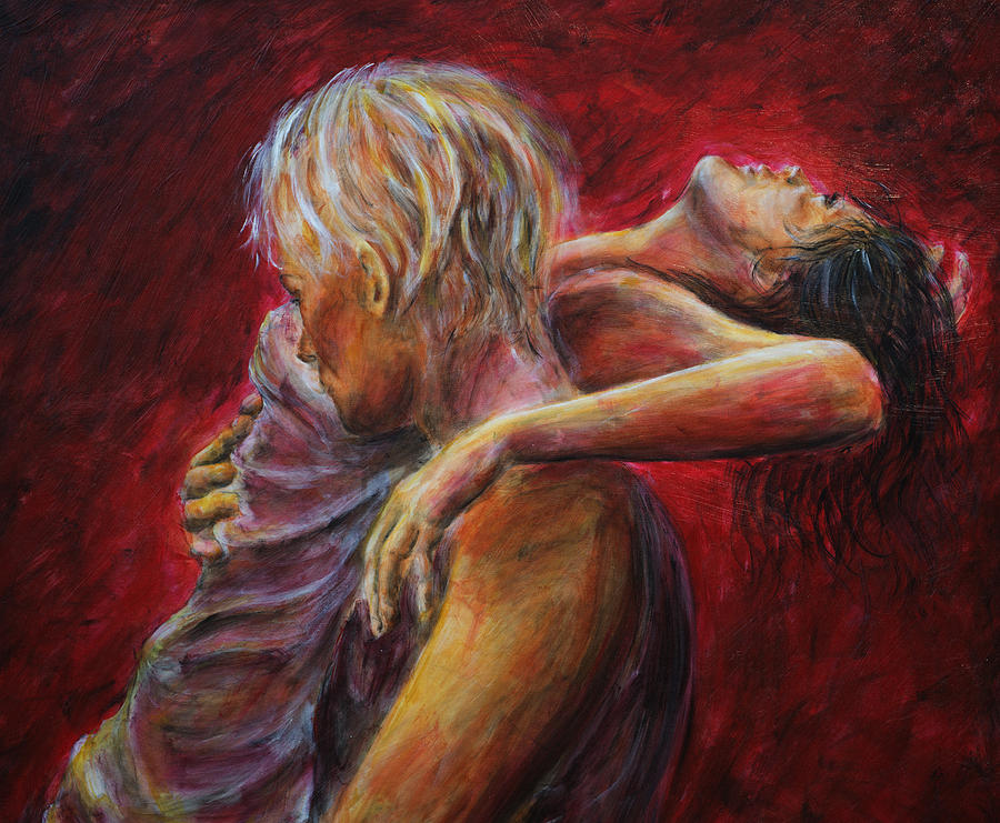 Lovere In Red  Painting