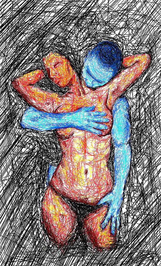 Lovers Wired Together  Drawing