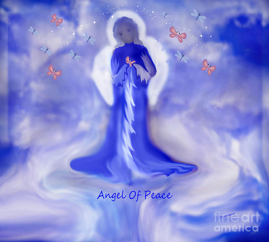 Loving Angel Of Peace Painting