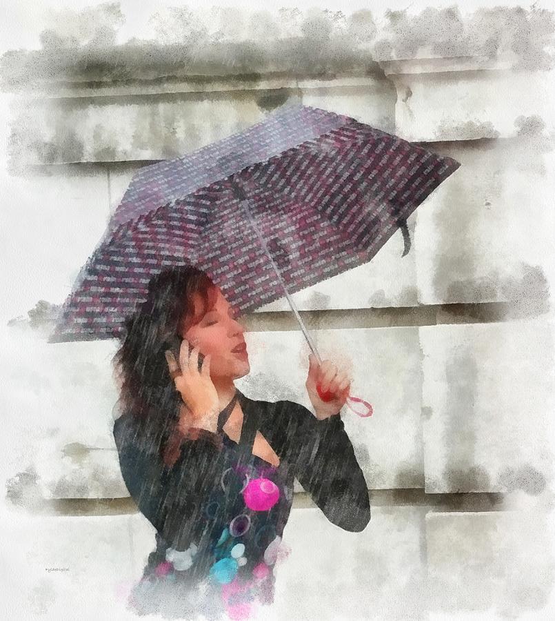 Rain Painting - Loving The Rain by Patrick OHare