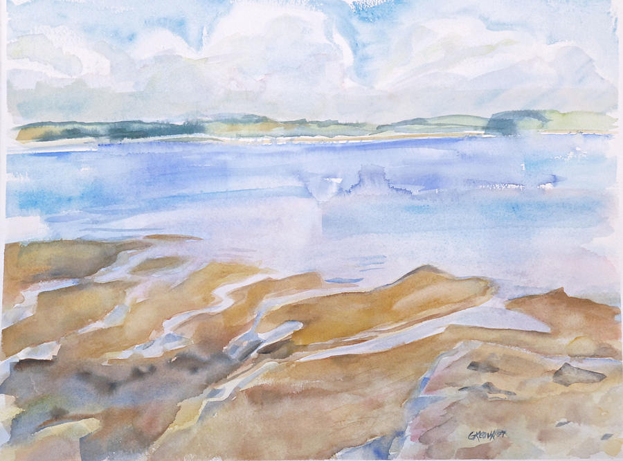 Low Tide - Penobscot Bay Painting  - Low Tide - Penobscot Bay Fine Art Print