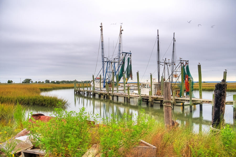 Lowcountry Shrimp Dock Photograph  - Lowcountry Shrimp Dock Fine Art Print
