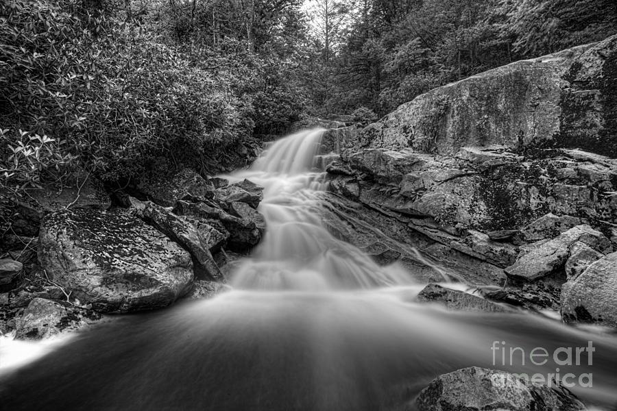 West Virgina Waterfalls Photograph - Lower Falls On Big Run River  by Dan Friend