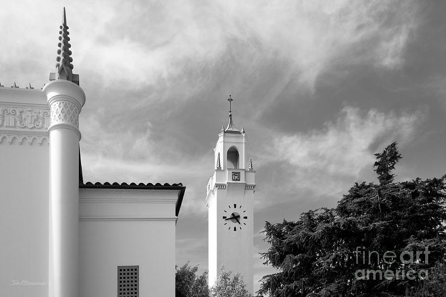Loyola Marymount University Clock Tower Photograph  - Loyola Marymount University Clock Tower Fine Art Print