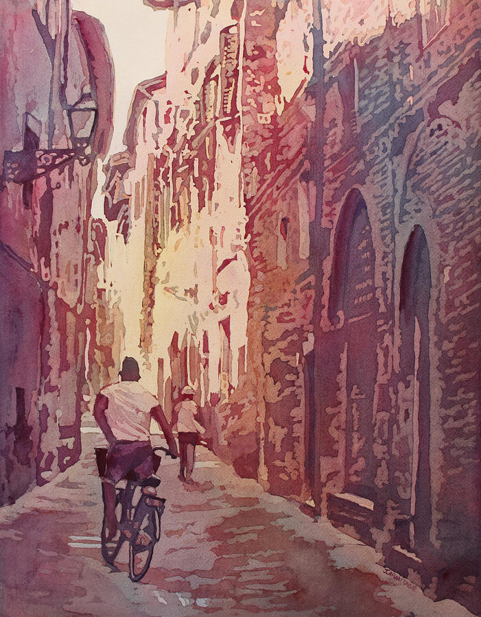 Lucca Painting - Lucca by Jenny Armitage
