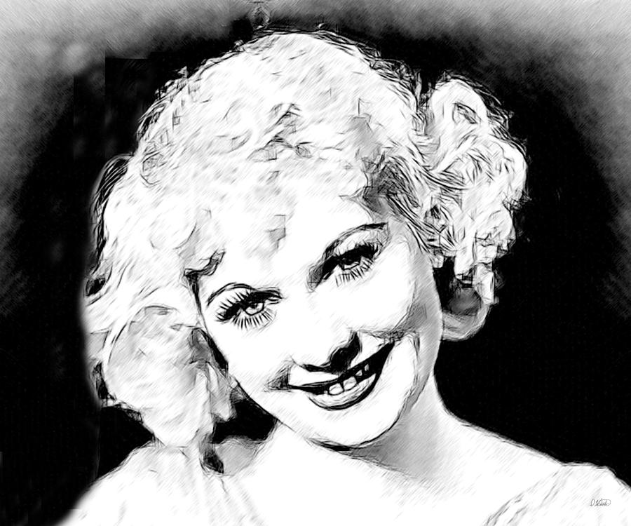 Lucille Ball 006 Drawing By Dean Wittle