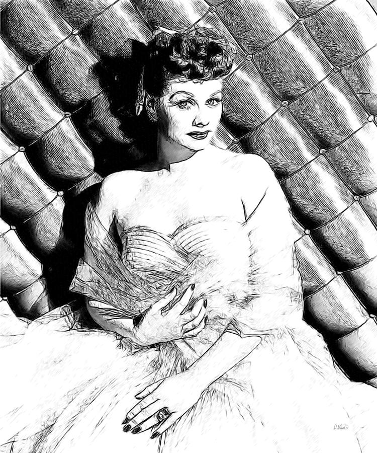 lucille ball coloring pages | Lucille Ball 007 Drawing by Dean Wittle