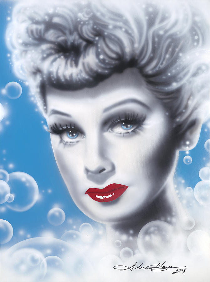 Lucille Ball Painting