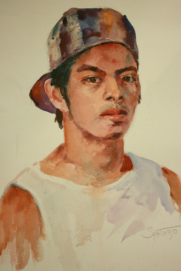 Watercolor Portrait Painting - Lucio by Todd Taro