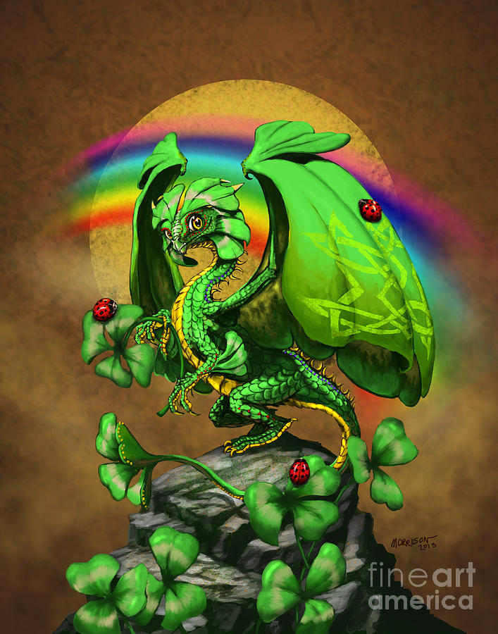 Luck Dragon Digital Art  - Luck Dragon Fine Art Print