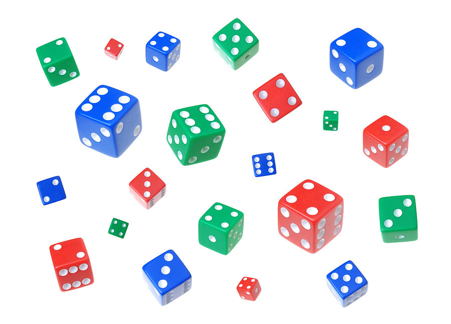 Lucky Dice Photograph  - Lucky Dice Fine Art Print