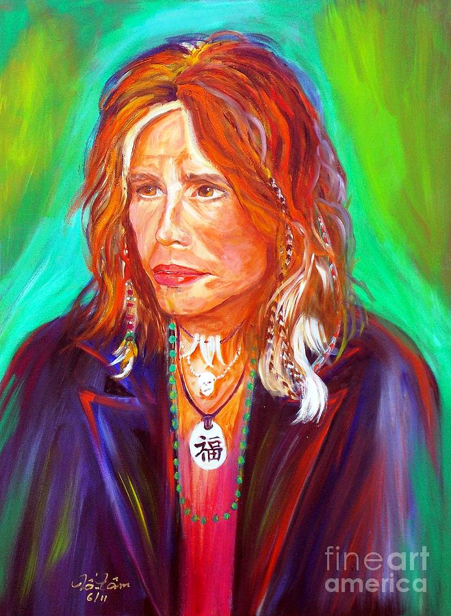 Steven Tyler Painting - Lucky by To-Tam Gerwe