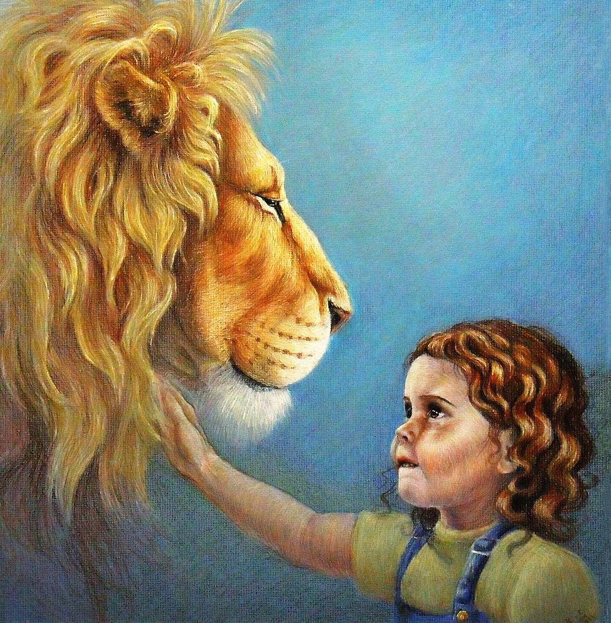 Lion Painting - Lucy by Heidi Carson