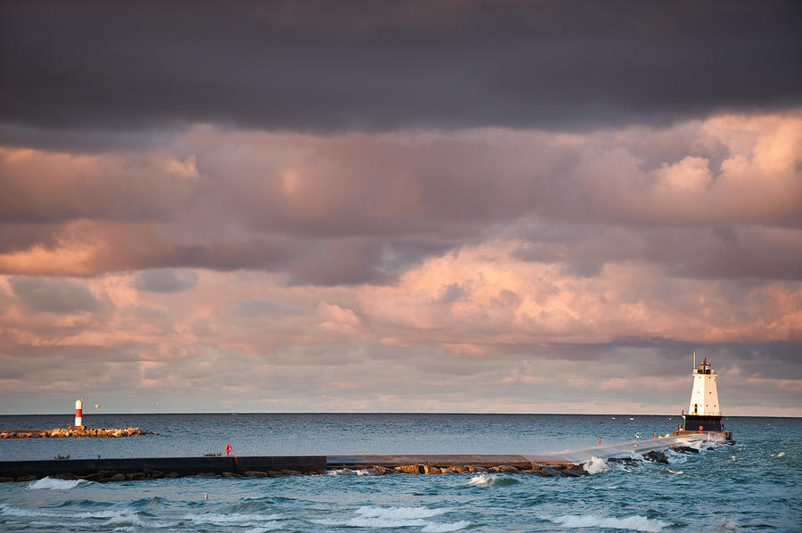 Clouds Photograph - Ludington by Sebastian Musial