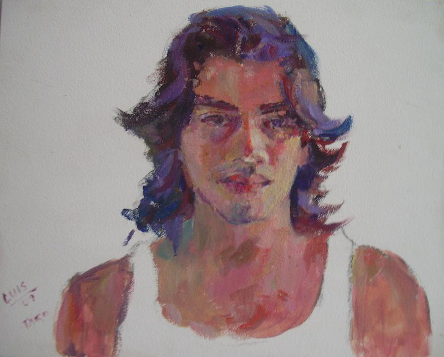 Portrait Painting - Luis by Todd Taro