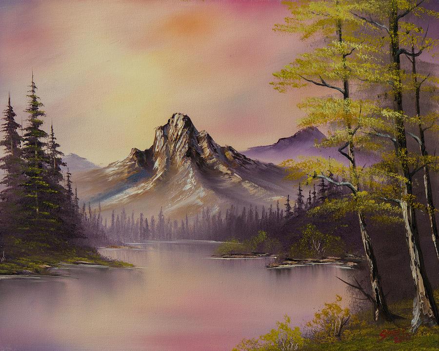 Luminous Lake Painting