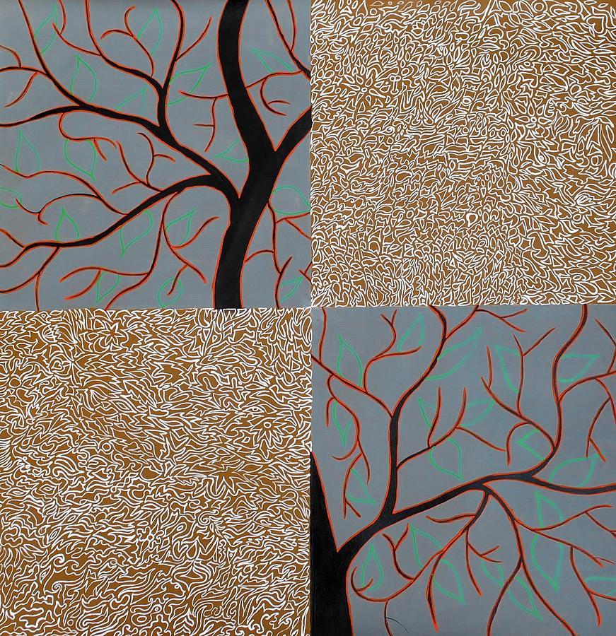 Tree Painting - Luminous Tree Of Barsoom by Sumit Mehndiratta