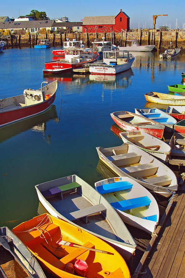 Rockport Photograph - Lunch At The Harbor by Joann Vitali
