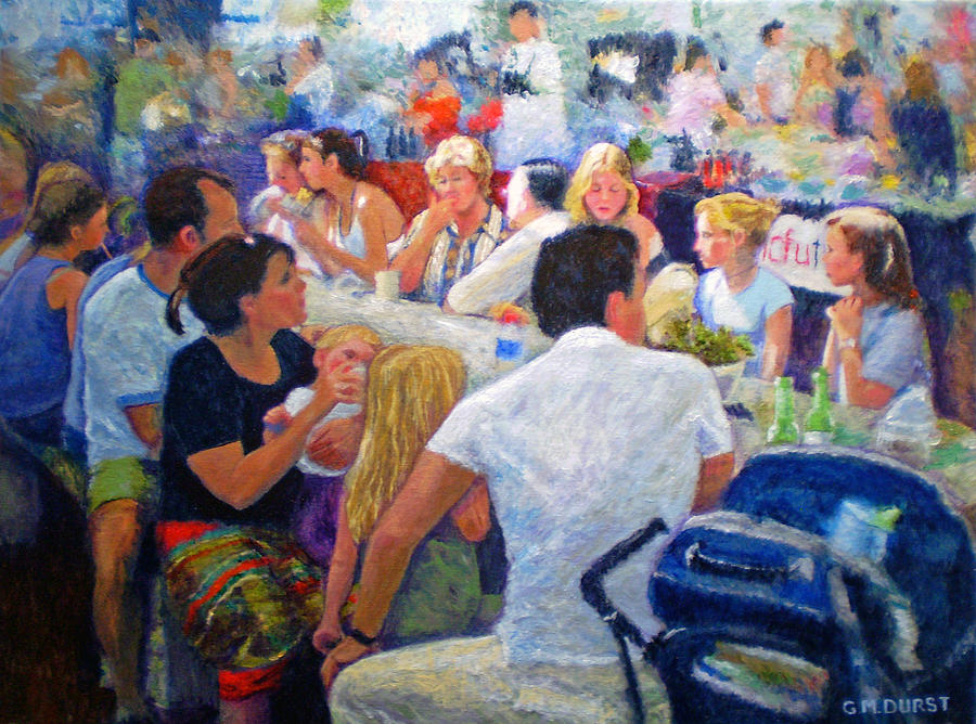 Lunch At The O.b.m. Painting  - Lunch At The O.b.m. Fine Art Print