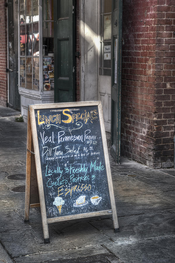 French Quarter Photograph - Lunch Specials by Brenda Bryant