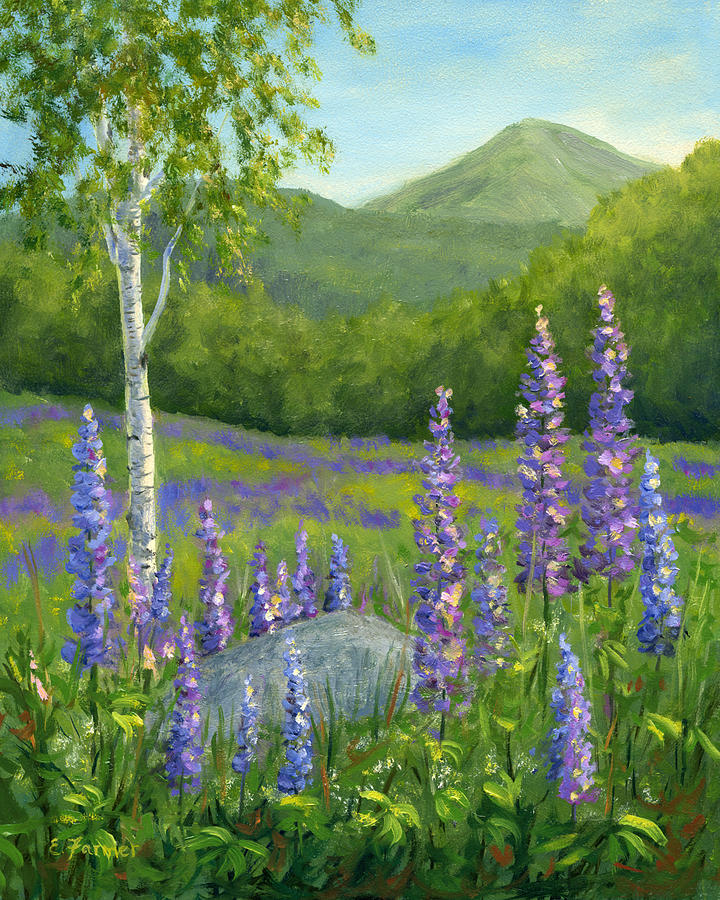 Lupine At Sugar Hill Painting