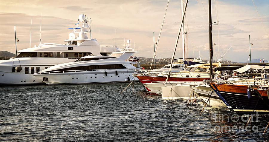 Luxury Boats At St.tropez Photograph