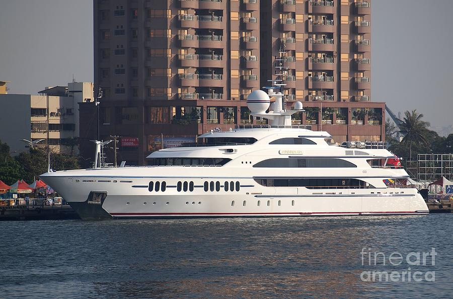 Luxury Yacht Visits Kaohsiung Port Photograph  - Luxury Yacht Visits Kaohsiung Port Fine Art Print