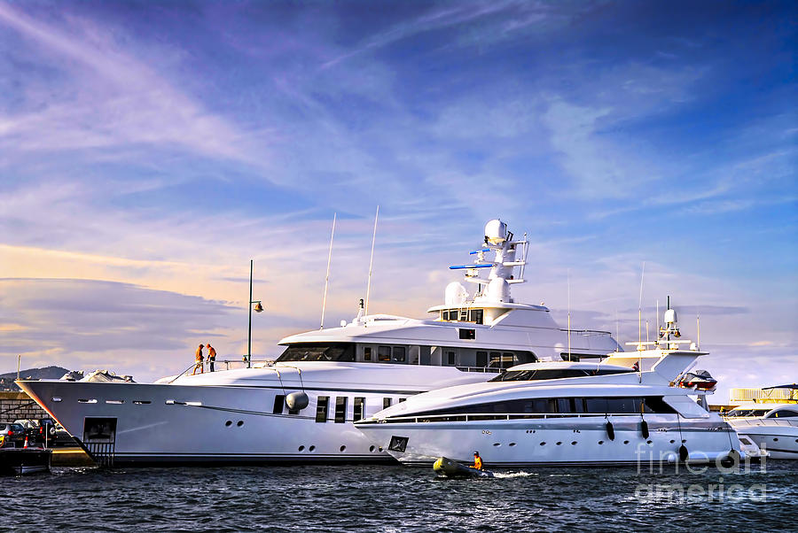 Luxury Yachts Photograph  - Luxury Yachts Fine Art Print