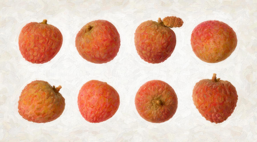 Red Painting - Lychee by Danny Smythe