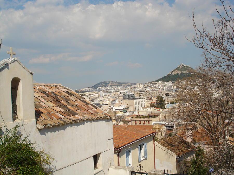 Lykabytos View Fron Plaka Relief - Lykabytos View by Greek View
