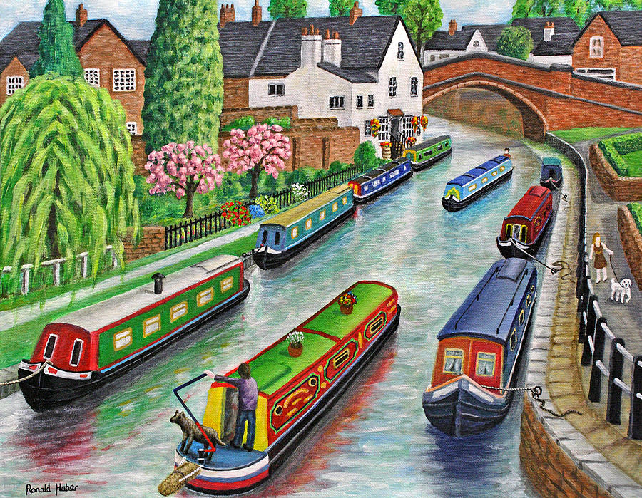 Lymm Village is a painting by Ronald Haber which was uploaded on July ...