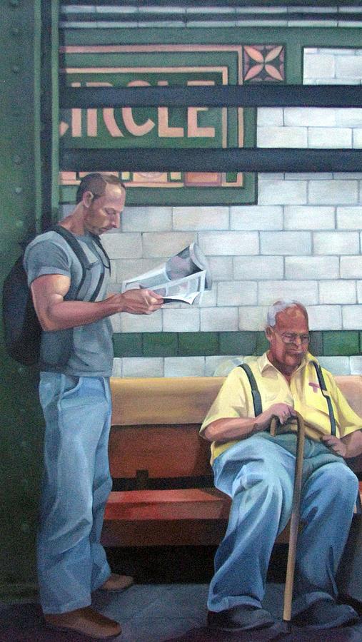 Subway Scene Painting - Lyrical Journey No 2 by Julie Orsini Shakher