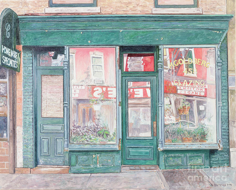 M Goldberg Glazing Court St Brooklyn New York Painting  - M Goldberg Glazing Court St Brooklyn New York Fine Art Print