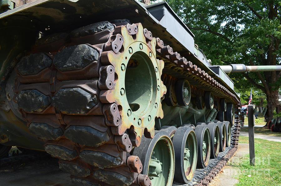 M60 Patton Artillery Tank Photograph - M60 Patton Artillery Tank Tread by Luther   Fine Art