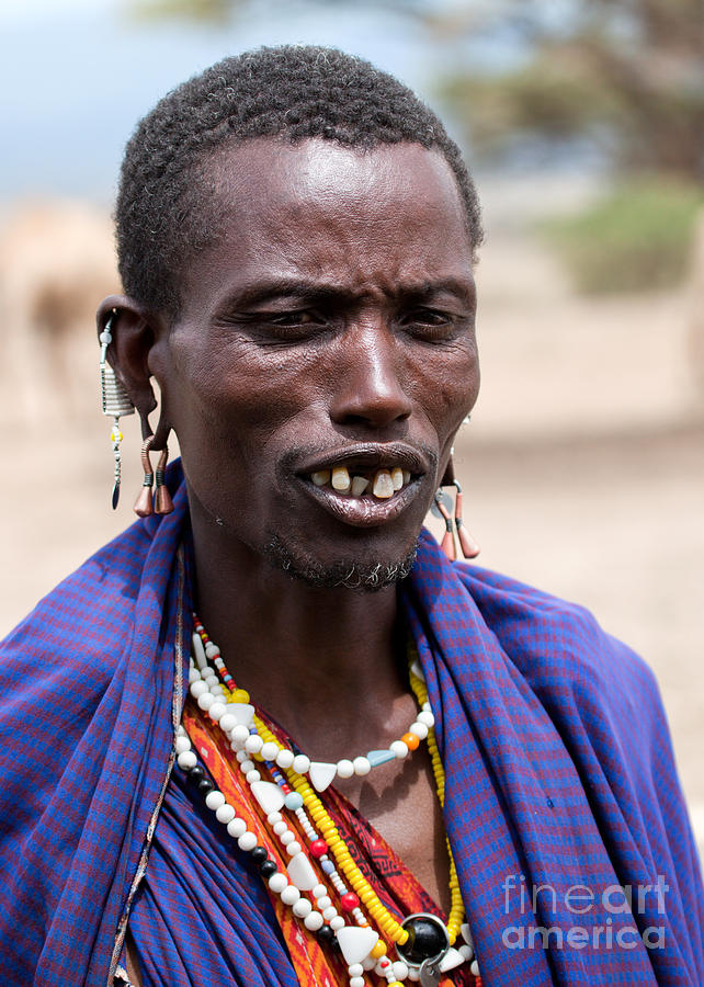 Africa Photograph - Maasai Man Portrait In Tanzania by Michal Bednarek
