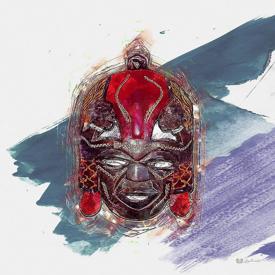 Maasai Mask The Rain God Ngai Digital Art By Serge Averbukh