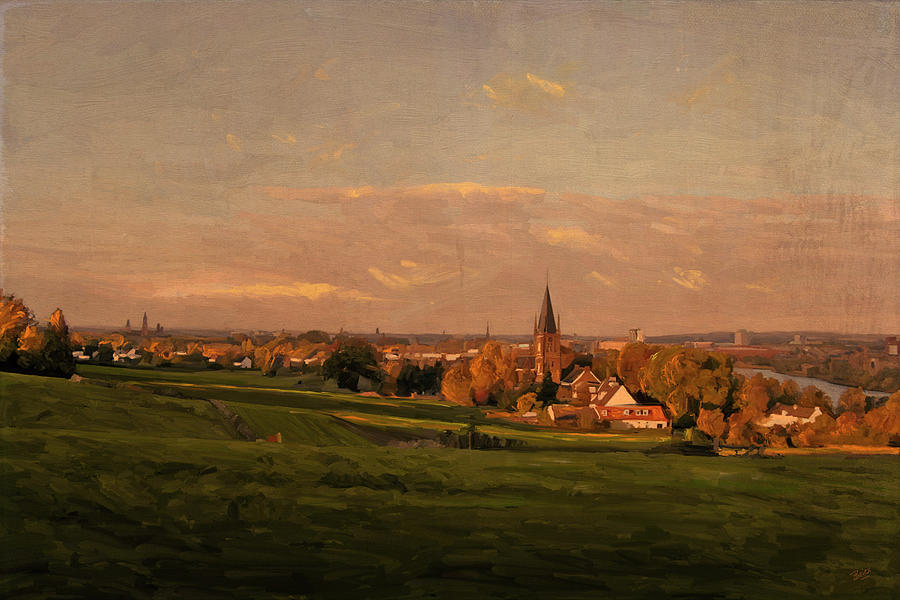 Maastricht Seen From Sint Pieter Painting