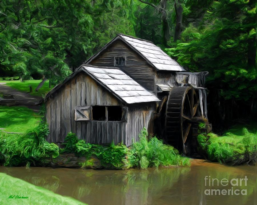Mabry Mill 4 Mixed Media  - Mabry Mill 4 Fine Art Print