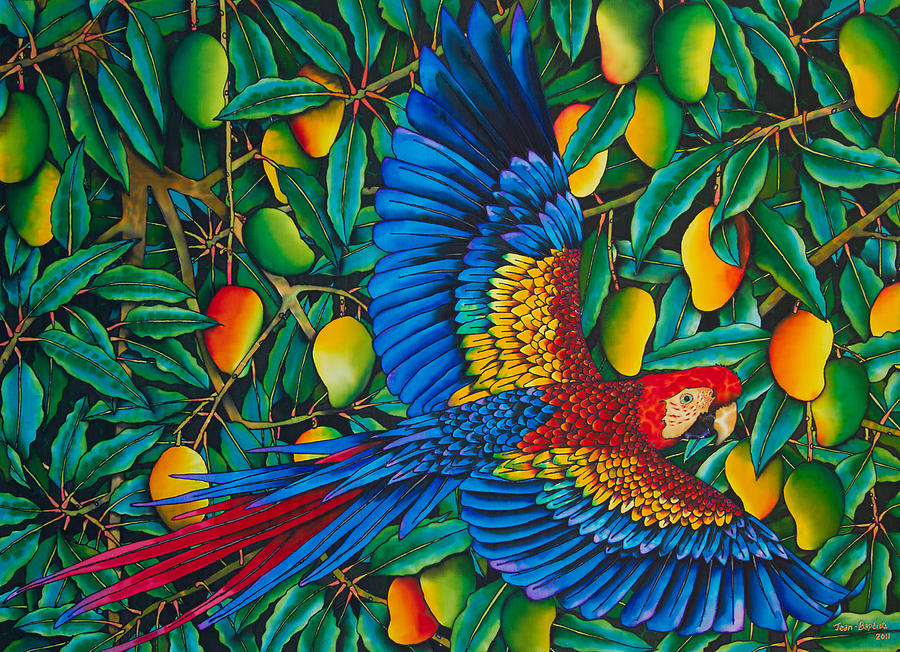 Macaw In Mango Tree Painting