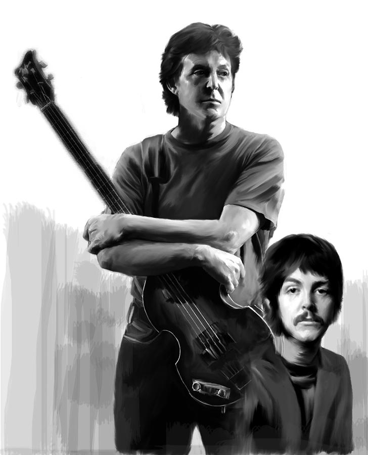 Macca Paul Mccartney Painting  - Macca Paul Mccartney Fine Art Print