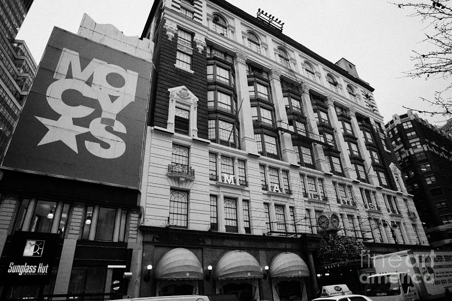 Macys Department Store New York City Photograph  - Macys Department Store New York City Fine Art Print