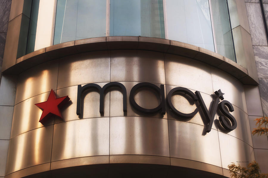 Chicago Photograph - Macys Signage by Thomas Woolworth