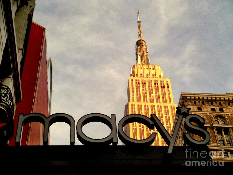 Macys With Empire State Building Photograph  - Macys With Empire State Building Fine Art Print